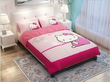 pink hello kitty print bedding sets for girls home decor twin full queen king size bedspread bed linens duvet covers sheet 4-5pc