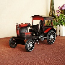 8269 Red Iron Car Model Old Style Restoring Ancient Ways Nostalgic Memories Gift(China)