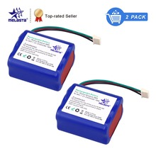 MELASTA 2Pack 7.2V 2500mAh NiMH Replacement Battery Pack for iRobot Mint 5200 5200B 5200C Braava 380t Floor Cleaner