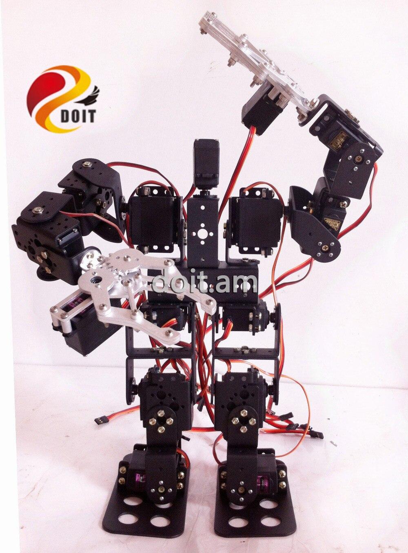 Official DOIT 15DOF Humanoid Robot Feet Walking Robot A full set of Servo Stent Accessories+2PCS Robot Metal Mechanical Claw<br><br>Aliexpress
