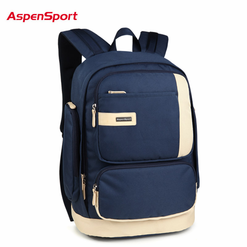 AspenSport 2017 Hot School Backpack For Student Men Laptop Backpack Unisex High Abrasion resistance Backpack Women Notebook Bag<br>