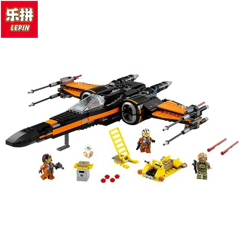 05004  Poes X-wing Fighter Star Building Blocks Fighter Assembled Fighter Compatible with Toys Star X Wing Toys <br>