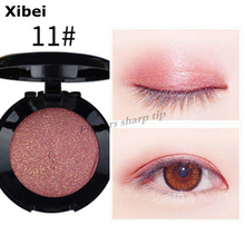Single color Eye shadow Nude Makeup Earth color Shimmer 2017 Years new color 11#