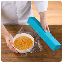Best Selling Dispenser Plastic wrap/Preservative film cutter For Foil or Cling Wrap kitchen accessories Blocks Roll Bags(China)