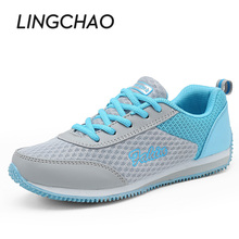 Casual Style Woman Running Shoes Mixed Colors Sneakers For Girls Platform Sports Shoes Pink Chaussure Sport Mujer Size:35-40,595(China)