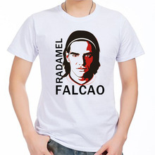 Men's Short sleeve t-shirt Radamel Falcao Monaco Manchester Colombia 100% cotton tshirt jersey fan(China)