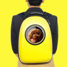 Space Capsule Design Pet Cat Carrier Backpacks Puppy Unique Product Lucency Shoulders Travel Bag(China)