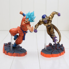 2pcs/lot Dragon Ball Z Super Saiyan Goku Son Freeza Ultimate Form Combat Edition PVC Action Figure Collectible Toys