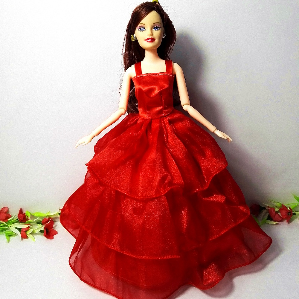 Women reward authentic princess doll Doll physique+head+gown+crown+bracelet,2pcs doll with garments, doll equipment for barbie YF-58