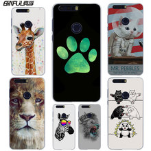 BiNFUL Summery Flamingo Zebra King Lion style clear phone Case cover for Huawei Honor 6X 5X 4X 4C 5C for Honor 8 lite V8 7(China)