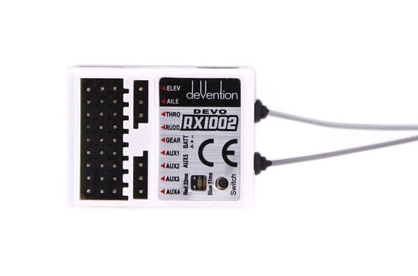 10PCS Walkera DEVO RX1002 Receivers Devention 10CH 2.4GHz White RC Receiver for Walkera Remote Control Transmitter<br>