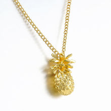 Fashion Tiny Pineapple Cute Fruit Charm Gold Plate Long Chain Necklace pendant women Jewelry