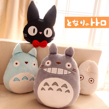 Candice guo plush toy stuffed doll Miyazaki Hayao funny cartoon totoro cat pillow cushion soft birthday gift christmas present
