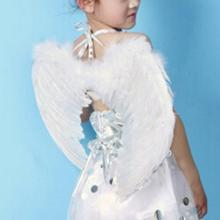 New Kids Fairy Nativity Angel Wings Adult Costume Fancy Dress Up Costume White Feather