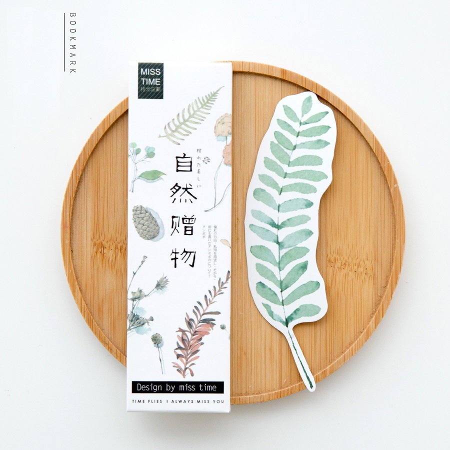 30 pcs/set Nature leaves bookmark Foliage paper book mark Stationery Office accessories School supplies signets pour livres 6613(China (Mainland))