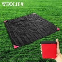 110*150cm Picnic Mat Travel Handy Camping Folding Portable Pockets Waterproof Beach Mat Family Day Outdoor Activities(China)