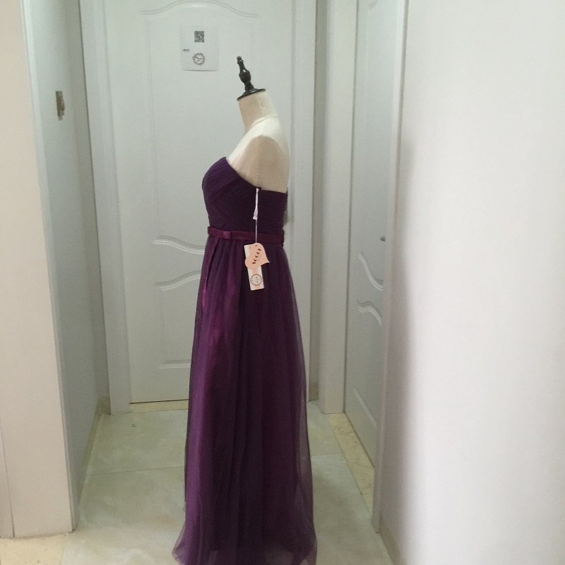 SOCCI Weekend Strapless Purple Long Evening Dress Charming Tulle Burgundy Evening Gown Formal Wedding Reception Vestido de Longo 18