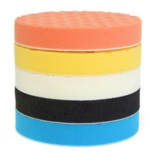 1 Set of 5Pcs 3 / 4 / 5 / 6 / 7 Inch Buffing Polishing Sponge Pads Kit for Car Polisher