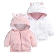 2a2f384454eaf MUQGEW Mode Bébé Hiver Vêtements enfants manteau de Bande Dessinée Oreille  À Capuche Pull Tops Vêtements Chauds filles manteaux .