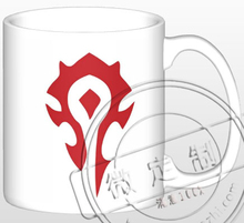 New WOW Ceramic Coffee Mug White Color Or Color Changed Cup For The Horde