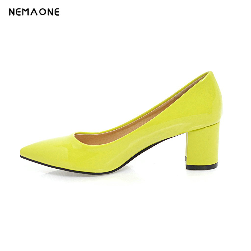 NEMAONE 2018 fashion spring autumn new arrival women pumps shallow elegant pointed ladies single shoes sexy high heels shoes<br>