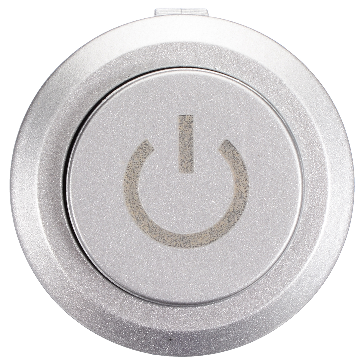 22mm 12V LED Momentary Latching Brass Nickel Plate 1NO 1NC Metal Push Button Switch with Power Symbol