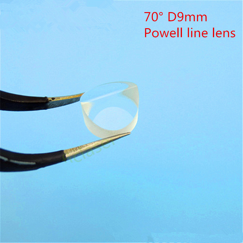 70 Degree High quality  Powell line lens /Glass Aspheric Lens  D9mm<br>
