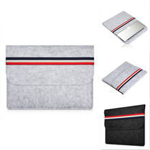 2017 New Fashion Felt Laptop Sleeve Bag Notebook Case Computer Smart Cover Handbag For 11 12 13 15 inch Macbook Air Pro Retina