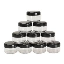 High quality 10Pcs 5g/ml Cosmetic Empty Jar Pot Eyeshadow Makeup Face Cream Container Acrylic Refillable Bottles(China)