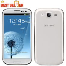 I9300 Original Unlocked Samsung S3 S III Cell phones Quad Core 4.8'' 8MP NFC GPS Wifi GSM 3G Refurbished(China)