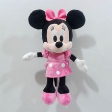 Free Shipping 30cm=11.8inch Original Minnie Mouse Classic Pink Dress Minnie Stuffed animals Plush Girl Toy