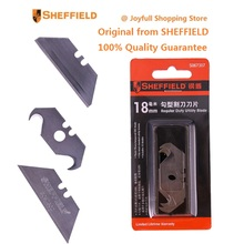 SHEFFIELD Original 9mm 18mm Utility knife Blade Folding Knife Blades Heavy Duty SK5 Steel Blade 10pcs Hook type exchange blades(China)