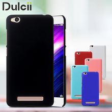 DULCII Fitted Case for Xiaomi Redmi 4a Case Rubber Coating Hard PC Back Mobile Phone Cover for Case Xiaomi Redmi 4a Shells Capas(China)
