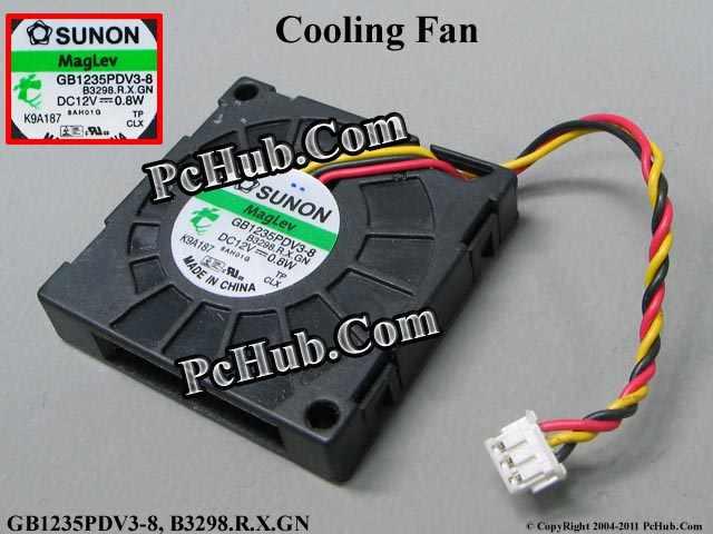 SUNON GB1235PDV3-8, B3298.R.X.GN DC 12V 0.8W  bare fan<br>