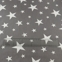 2016 News Gray Stars Style Cotton Fabric Textile Patchwork Sewing Children Cloth Tissue Teramila Fabrics Art Work Decoration CM