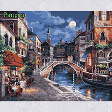 Abstract Hand Painted Canvas Painting Wall art Acrylic Paintings Paint By Numbers Christmas gift Decoration Pictures Night town