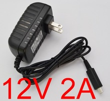 New AC Converter Adapter DC 12V 2A 2000mA 24W Power Supply US Plug Battery Charger For Acer Iconia A510 A700 A701 tablet pc