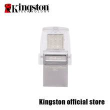 Kingston Mobile usb flash disk USB 3.0 DataTraveler microDuo3C Flash Disk DTDUO3C-16G/32G/64G(China)