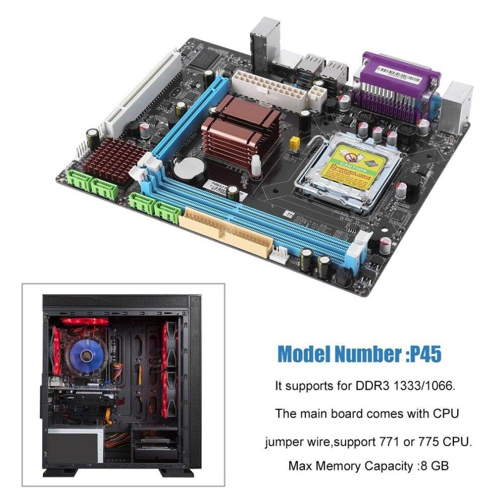 Интернет магазин товары для всей семьи HTB1mHKehTlYBeNjSszcq6zwhFXaT P45 материнская плата компьютера Fast Ethernet плата 771/775 двойной борт DDR3 8 GB Поддержка L5420 высокое Совместимость Прямая доставка
