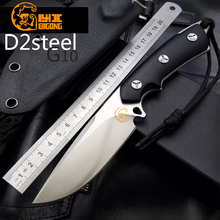 Very sharp!BIGONG Camping Knives D2 COLD STEEL Blade  G10 handle Outdoor  BOLTE Survival Knives Pocket EDCTools