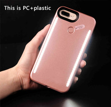 Luminous Phone Cases for iPhone 7 6 6s plus Cover Glowing Light Selfie LED phone case for iPhone 6 6s 7 Plus Case with Light