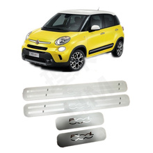 Suitable for FIAT 500L 2014 2015 2016 2017 Four Door Stainless Steel Scuff Plate Door Sill Cover Trim Car Accessories(China)