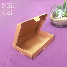 kraft Gift Box Lomo Card Business NameCard Photo Jewel Packing Brown Boxes 12.4*9*1.8cm Free Shipping