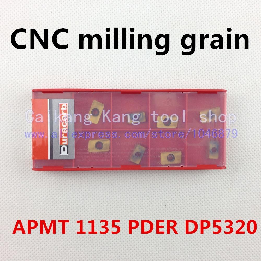 10 / box. CNC milling grain. CNC knife tablets. Cutter. CNC milling. APMT 1135 PDER DP5320<br>