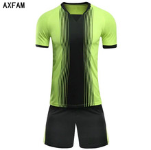 AXFAM Football uniforms Breathable Short Sleeve Men's Soccer Jerseys Sets survetement football 2017 training sports suit GB-S70