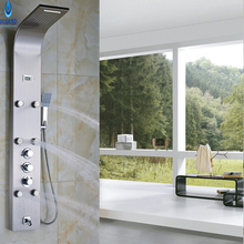 Buy Ulgksd Thermostatic Bathroom Shower Panel Handle BathTub Faucet Spout Shower Column Mixer Tap Hand Shower Faucet Massage Jets for $115.00 in AliExpress store