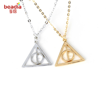 New Arrival 1pc/bag  Gold/Silver Color Can rotate the irregular shape Charm Pendant Necklace for Women Girl Party Jewelry Gifts