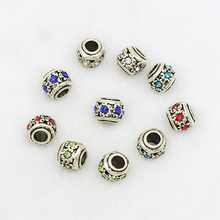 flower jewelry accessories manufacturers selling point manual DIY alloy drill large hole bead all-match Beaded Bracelet(China)