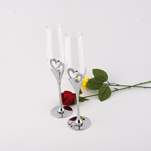 Hot Fashion Crystal Glass Red Wine Glasses Goblet Cup 26cm height wedding champagne glasses for weddings or party/ lovers goblet