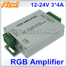 5pcs/lot, LED RGB Amplifier, DC12-24V Input, 3*4A 144W 12A used for 3528 5050 SMD RGB LED Strip Light signal extend, free ship